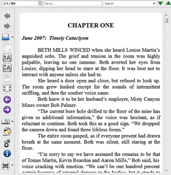 "Sample from EPUB version of ""Mind Sweeper"" by Deborah O'Toole. Click on image to see larger size in a new window."