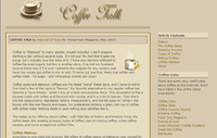 Online article about coffee