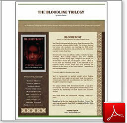 "Flyer for the ""Bloodline Trilogy"" by Deidre Dalton. Click on image to see actual document in a new window (1.92 MB, PDF)."