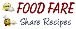 "Personalized ""Share Recipes"" logo for Food Fare"