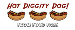 "Button for ""Hot Diggity Dog"" article from Food Fare."