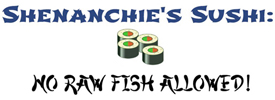 "Button for ""Shenanchie's Sushi"" article from Food Fare."